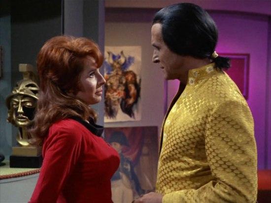 Madlyn Rhue as Marla McGivers and Ricardo Montalbán as Khan