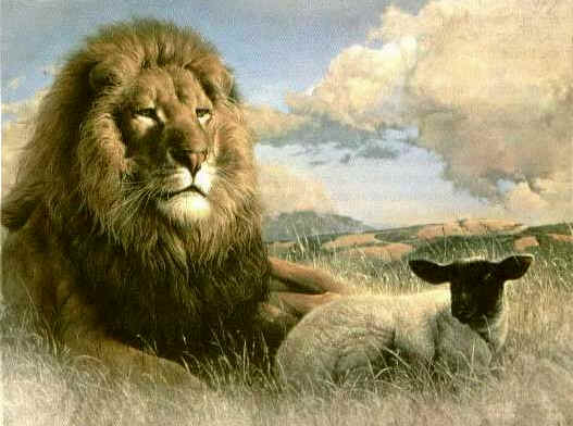 The lion and the sheep.