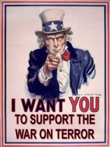I want you to support the War on Terror