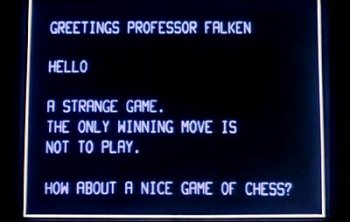 "From the film ""Wargames"""