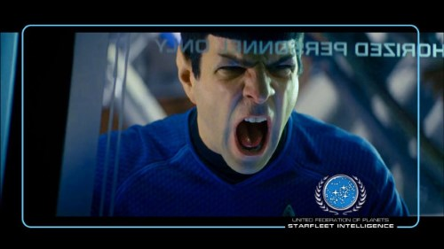 Zachary Pinto as an angry Spock