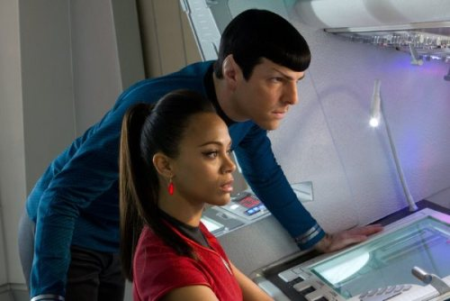 "Zachary Quinto and Zoe Saldana in ""Star Trek Into Darkness"""