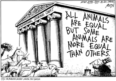 From Animal Farm, quote about equality