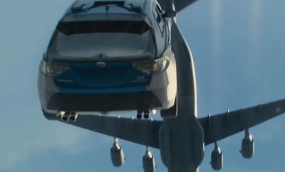 Car from airplane in Fast and Furious 7
