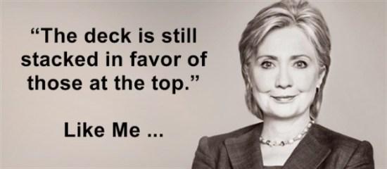 Hillary Clinton on top
