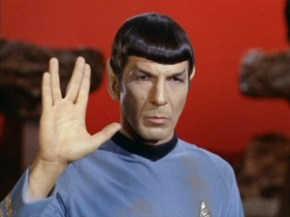Spock: vulcan peace sign
