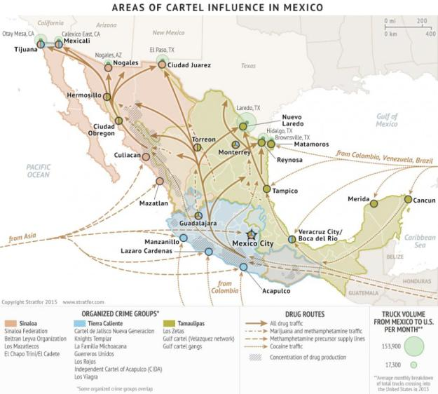 Stratfor: geography of Mexico's cartels