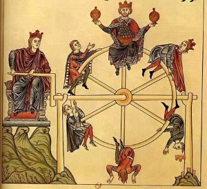 """""""The Wheel of Fortune"""" from Garden of Delights (1164)."""