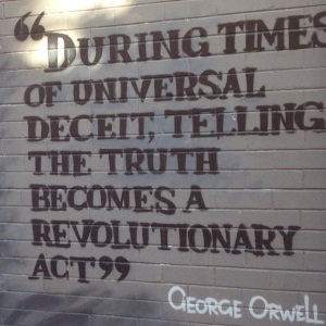 Orwell: truth as revolutionary act