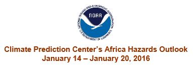 Header for NOAA: Africa status report, 14 January 2016