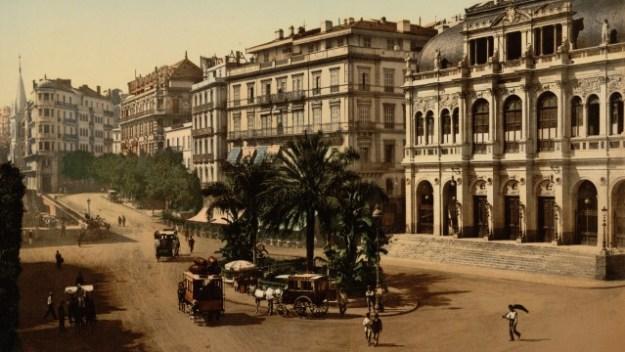 Algiers' Place de la Republique in French colonial Algeria.