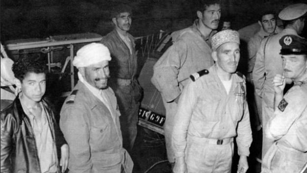 Muslim Harkis arriving in France from Algeria