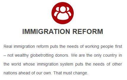 Trump platform: immigration