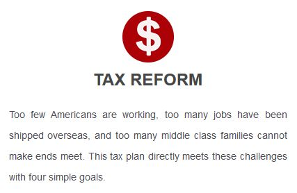 Trump platform: Tax reform