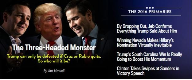 Slate Covers Campaign 2016 as a carnival