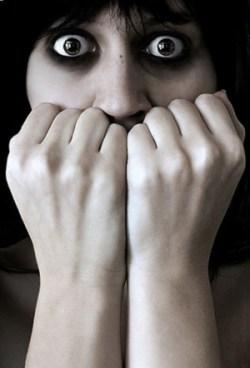 fearful woman