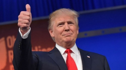 Donald Trump - thumbs-up