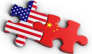 China - US Relations as interlocking puzzle pieces