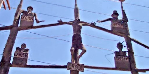 """Crucifixion of labor"" by Samuel Dinsmoor"