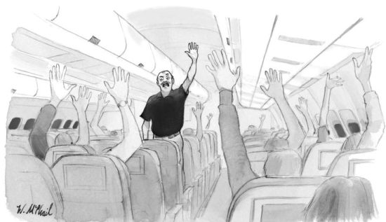 """Smug pilots"" in The New Yorker By Will McPhail"