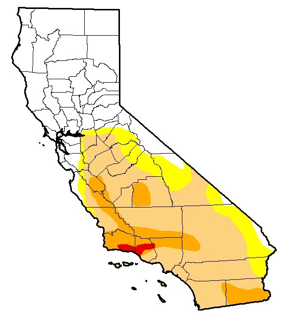 California Drought Monitor Legend