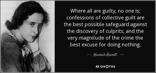 Harrah Arendt on collective guilt