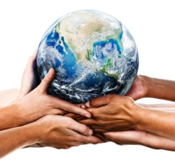 Earth rests in our hands