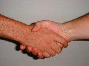 Hand shake in alliance