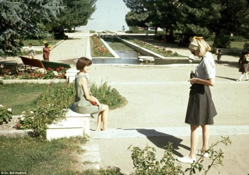 Women at a park in Kabul, Afghanistan - 1967