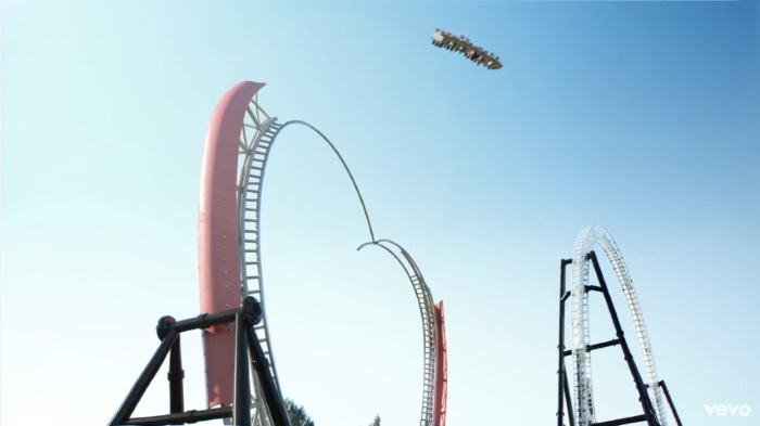 """Katy Perry: the Roller Coaster in """"Chained to the Rhythm"""""""