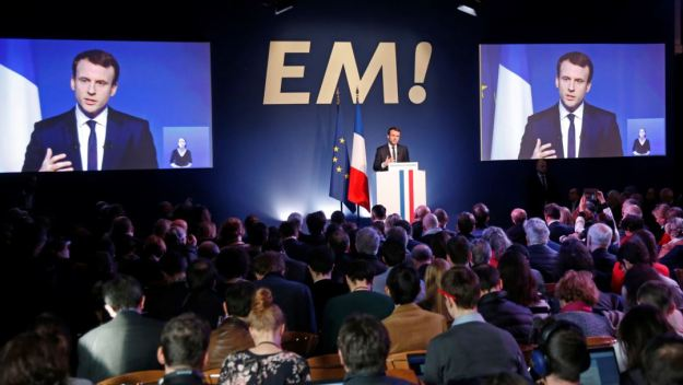 Macron Party meeting