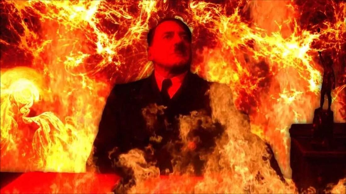 Hitler burns in Hell