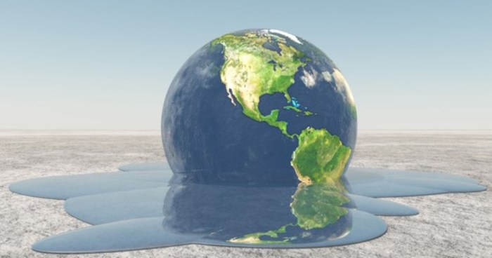 A melting Earth.