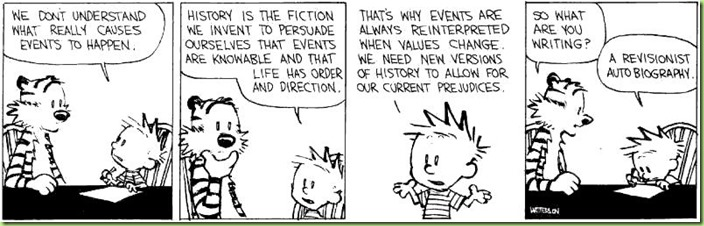 Calvin explains history