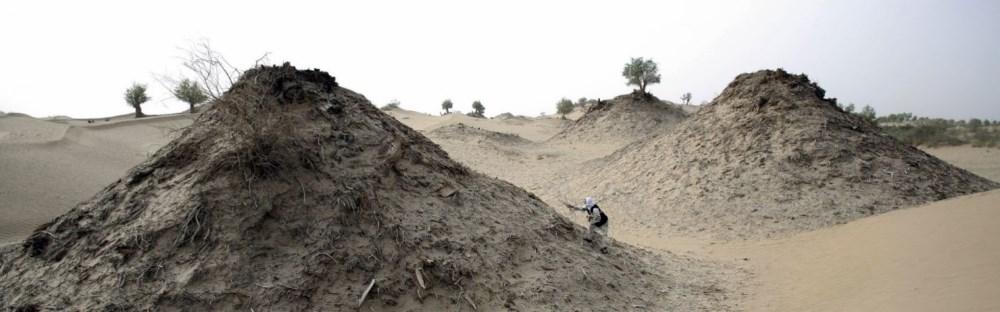 Taklamakan Desert in China's Xinjiang Uygur province