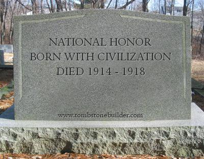 Tombstone of National Honor