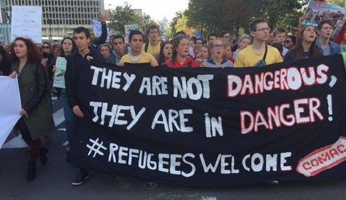 Marchers: Refugees are not dangerous