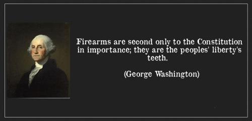 Fake Gun Quote by Washington