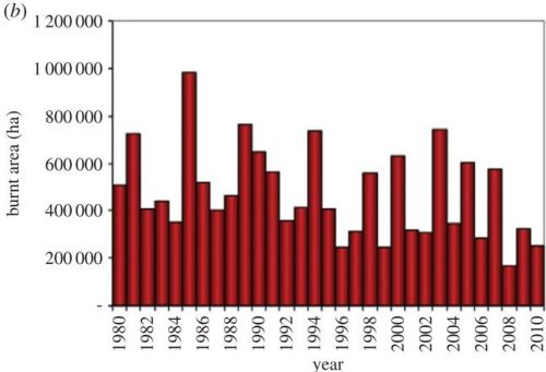 Phil TransB - long-term trend in wildfires