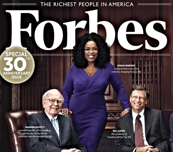 Forbes 2012 list of the Richest People