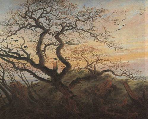 """The tree of crows"" by Caspar David Friedrich (1822)."