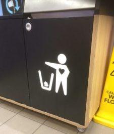 A Heart into the Trash Bin