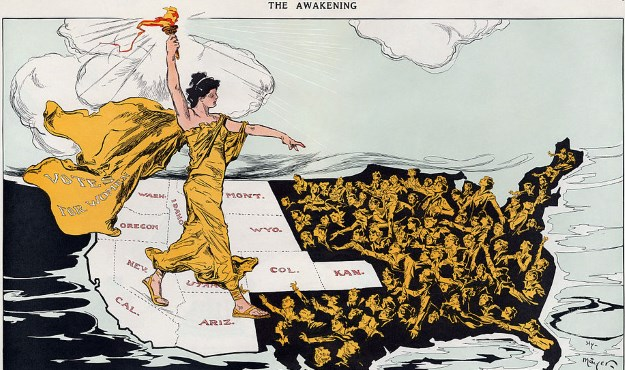 """The Awakening"" by Henry Mayer in Puck Magazine, 20 February 1915,"