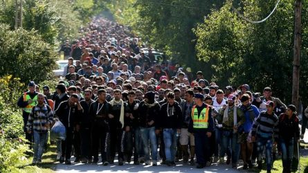 Migrants coming into Europe