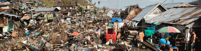 Tacloban in the Philippines after Super Typhoon Haiyan - 21 November 2013
