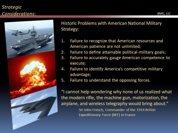 Historical weakness of US military strategy