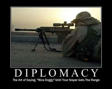Machine Gun diplomacy