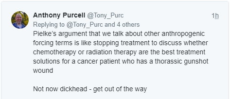 Anthony Purcell replies to Roger Pielke Sr.