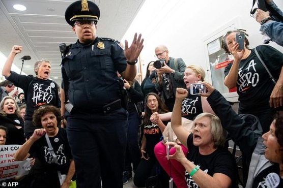 Protests at the Senate Kavanaugh Hearings