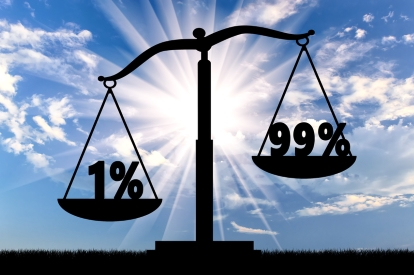 Income Inequality Scale -dreamstime_84244231
